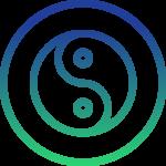 balance icon yin yang